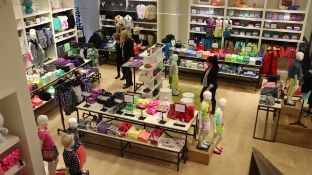 children's clothing, designer clothing j crew store - spring collection on february 11, 2013 in new york, new york - designer clothing stock videos & royalty-free footage