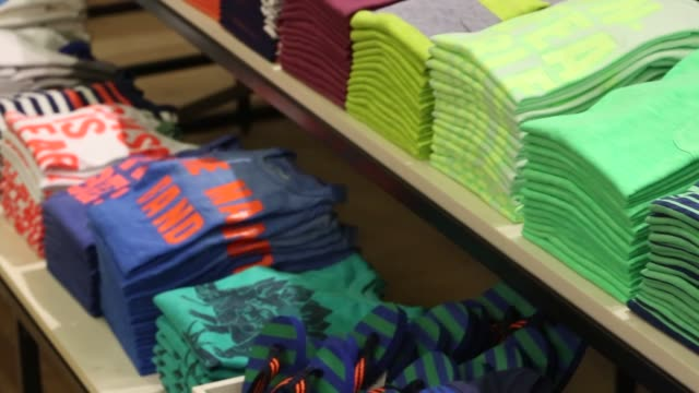 children's clothing, designer clothing j crew store - spring collection on february 11, 2013 in new york, new york - デザイナー服点の映像素材/bロール