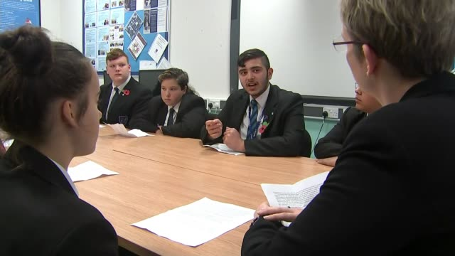 Children's Commissioner for England calls for transparency on data gathered from children online UK Staffordshire StokeonTrent Students in class on...