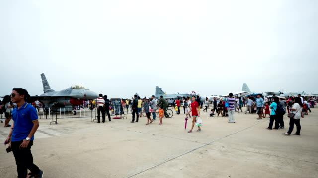 children's day im thai air force - kindertag stock-videos und b-roll-filmmaterial