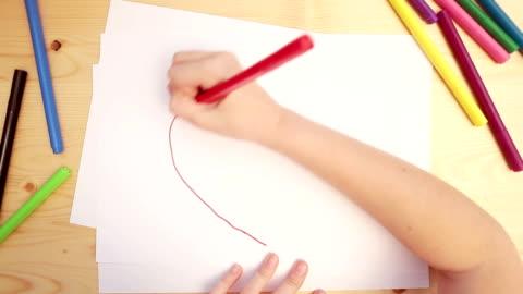 barnteckningar - rita bildbanksvideor och videomaterial från bakom kulisserna