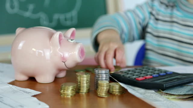 children's finances - tax form stock videos & royalty-free footage