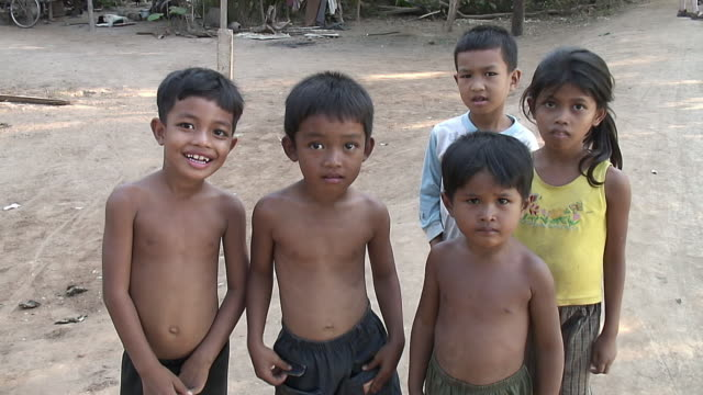 ms childrens in small farmer village / angkor wat, cambodia - cambodia stock videos & royalty-free footage