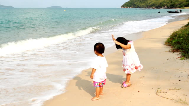 Childrens play on the beach.