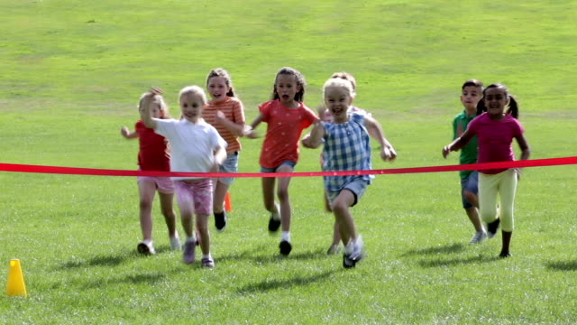 children's sports day - large group of people stock videos & royalty-free footage