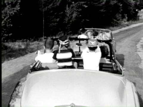 b/w pov children's  talking with santa claus, new york / audio - anno 1960 video stock e b–roll