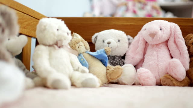 children's toys - teddy bear stock videos and b-roll footage