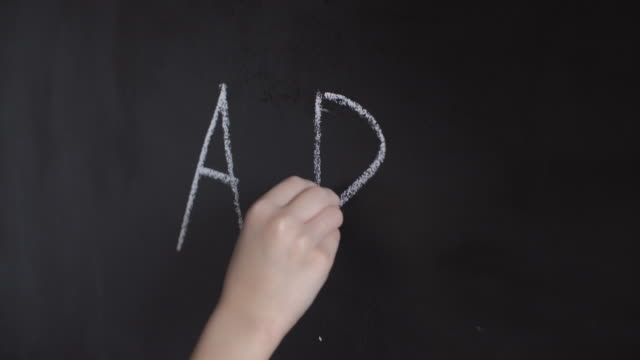 child's hand with chalk write alphabet on blackboard - letter b stock videos & royalty-free footage