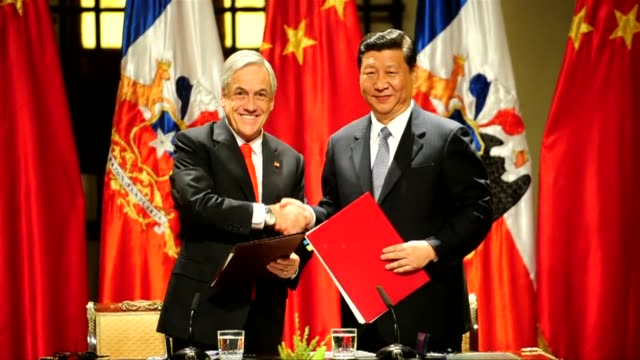 Chile and China signed a series of cooperative agreements Thursday in agriculture finance and mining during a visit to Santiago by Chinese Vice...