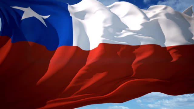 チリ国旗 - 地理的地域 国点の映像素材/bロール