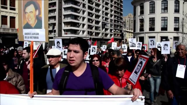 chilean activists rally in santiago to remember former president salvador allende ahead of the 41th anniversary of the coup that toppled him and... - salvador allende stock videos & royalty-free footage