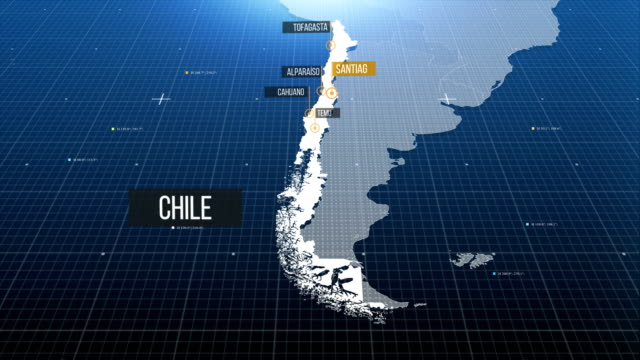 chilean map - chile stock videos & royalty-free footage