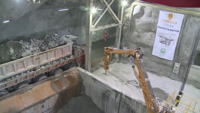 chilean state mining giant codelco inaugurated on tuesday the dacita mine located in el teniente division in rancagua and which is expected to... - copper mine stock videos and b-roll footage