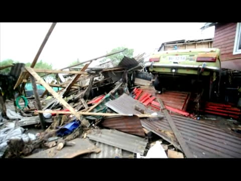 stockvideo's en b-roll-footage met chile's quake toll tops 700 as rescuers race to find survivors and the extent of the disaster becomes clearer in coastal areas where giant waves... - chile