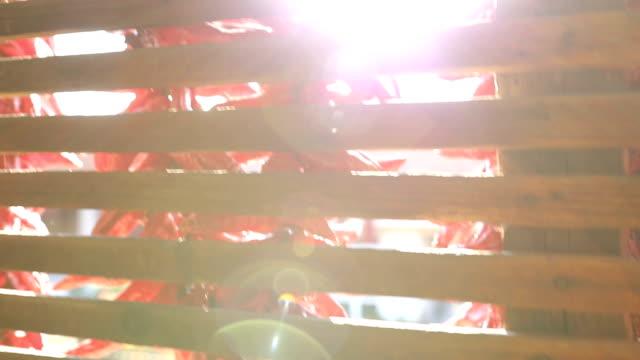 chili-pfeffer-zeichenfolge - heckklappe teil eines fahrzeugs stock-videos und b-roll-filmmaterial