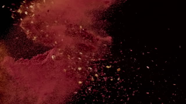 chili powder colliding in the air super slow motion video 1000 fps - ingredient stock videos & royalty-free footage