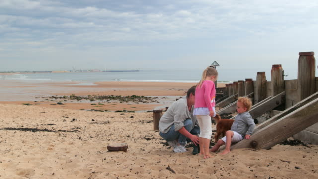 chilling by the coast - whitley bay stock videos & royalty-free footage