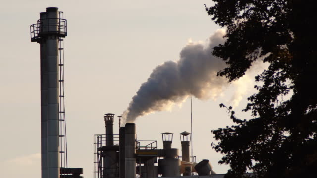 Chimney air pollution