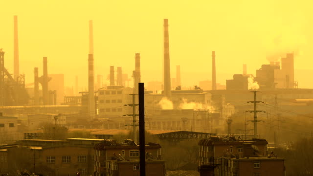 Chimney Factory Polluted Air
