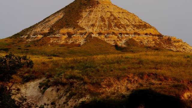 Chimney Rock Nebraska at sunrise Wild West USA