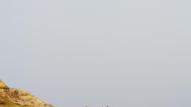 chimney rock spire national monument mountain nebraska usa - spire stock videos & royalty-free footage