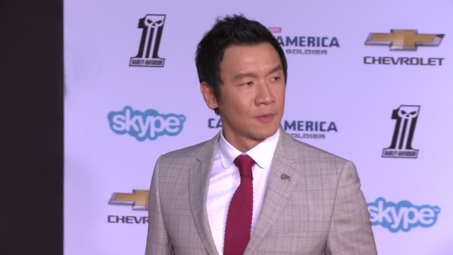 """chin han at the """"captain america: the winter soldier"""" los angeles premiere at the el capitan theatre on march 13, 2014 in hollywood, california. - el capitan theatre stock videos & royalty-free footage"""