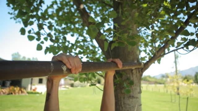 chin ups - pull ups stock videos & royalty-free footage