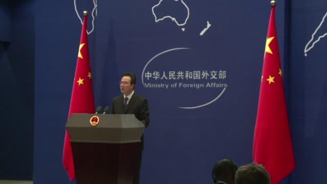 vídeos y material grabado en eventos de stock de china acusa a estados unidos de hipocresia y convoca a al embajador norteamericano como respuesta a la inculpacion de cinco oficiales chinos por... - ee.uu
