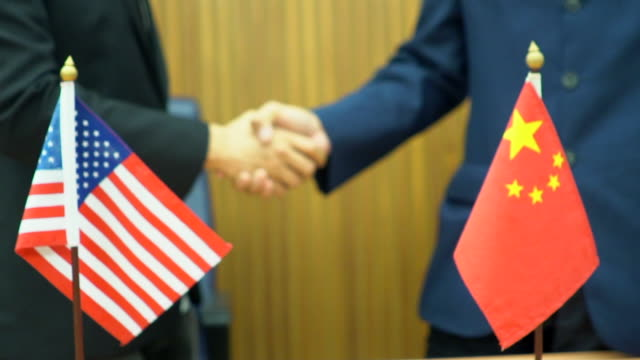 china and america cooperation concept - stati uniti d'america video stock e b–roll