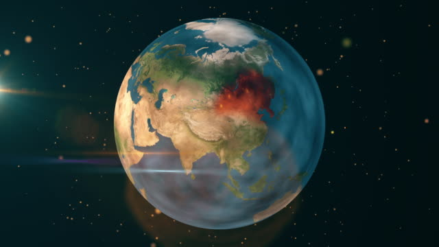 china and asia - earth natural disaster - fire - climate map stock videos & royalty-free footage