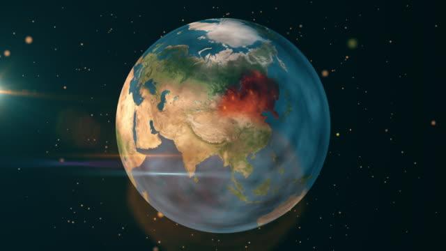 中国とアジア - 地球自然災害 - 火災 - 気候変動点の映像素材/bロール