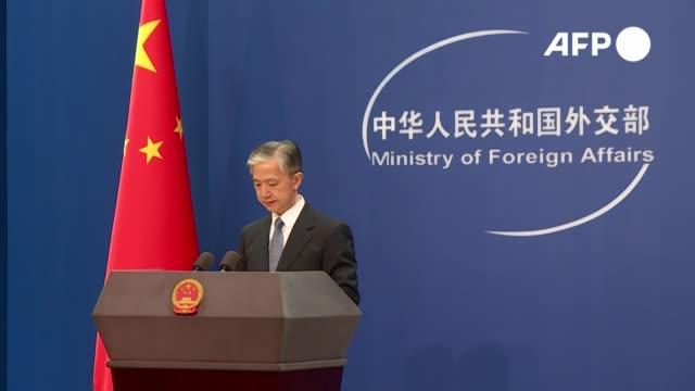 china anunció el martes la suspensión de acuerdos de extradición entre hong kong y tres países occidentales que criticaron la aplicación por parte de... - canadá stock videos & royalty-free footage