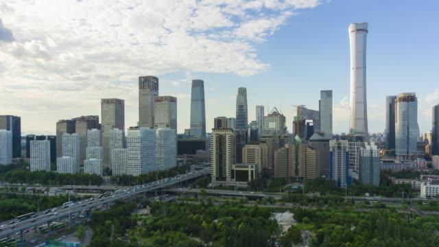 china, beijing, central business district - 北京点の映像素材/bロール