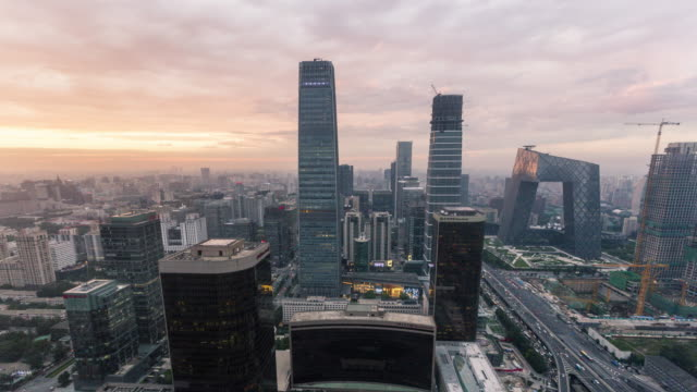 China Central Television time lapse