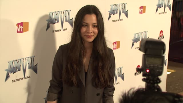 china chow at the 'anvil the story of anvil' premiere at los angeles ca - anvil the story of anvil stock videos and b-roll footage