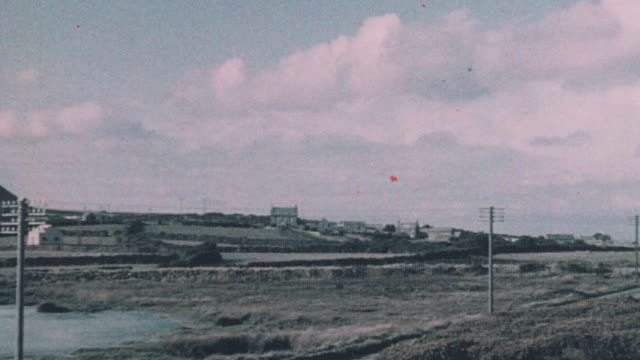 1937 pan china clay spoil heaps / st austell, england, united kingdom - 1937 stock videos and b-roll footage