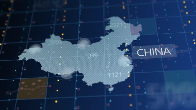 中国国数 死者数失業率の伸び - china east asia点の映像素材/bロール