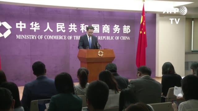 china dijo que no capitulara ante las presiones de washington previo a la nueva ronda de negociaciones comerciales entre ambos paises este jueves y a... - entrada stock videos and b-roll footage