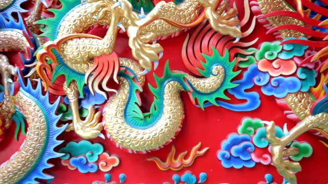 china dragon - dragon stock videos & royalty-free footage