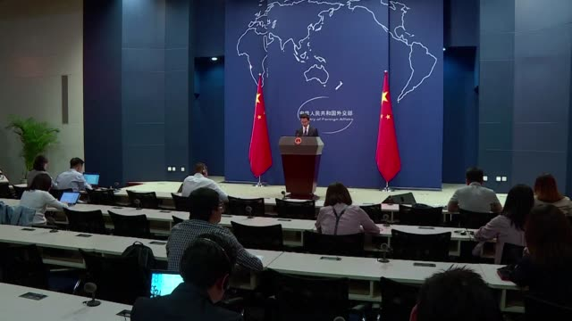 vídeos y material grabado en eventos de stock de china expresses strong dissatisfaction over us plans to sell a batch of military parts to the self governing island of taiwan adding to tensions... - noreste de china