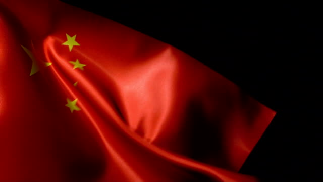 china flag flapping - china east asia stock videos & royalty-free footage