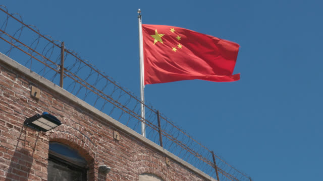 china flag flying - government stock videos & royalty-free footage
