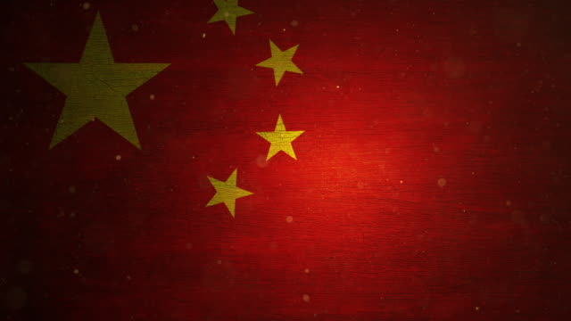 stockvideo's en b-roll-footage met de vlag van china - grunge. 4k - communisme