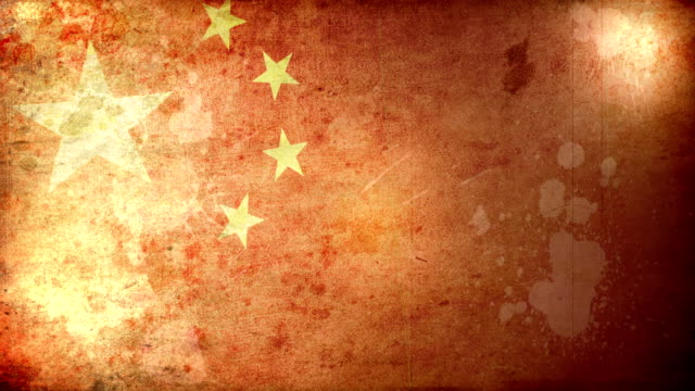 china flag - grunge. hd - communism stock videos and b-roll footage