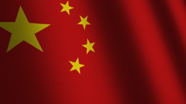 China flag - loop