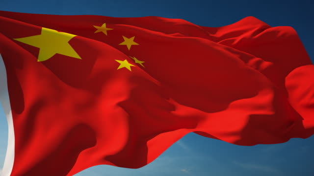 4k china flag - loopable - chinese flag stock videos & royalty-free footage