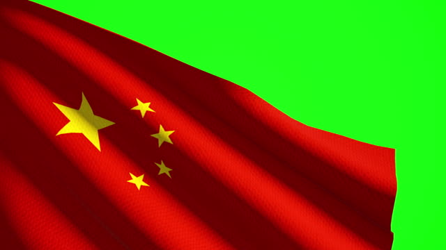 china flag luma matte - chinese flag stock videos & royalty-free footage