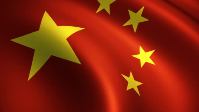 china flag near waving loopable - chinese flag stock videos and b-roll footage