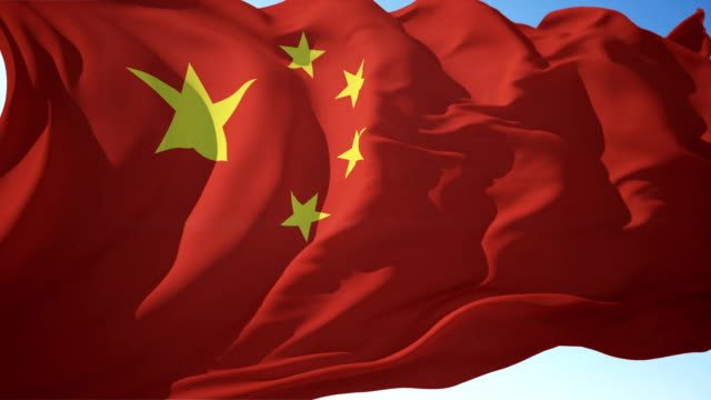 china flag or chinese flag - chinese flag stock videos & royalty-free footage