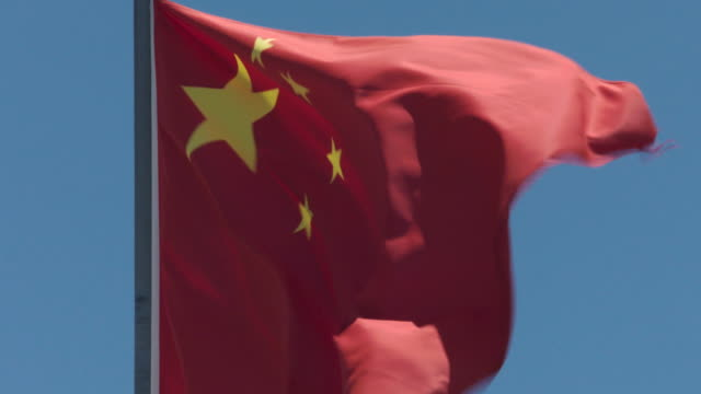 china flag - communism stock videos & royalty-free footage